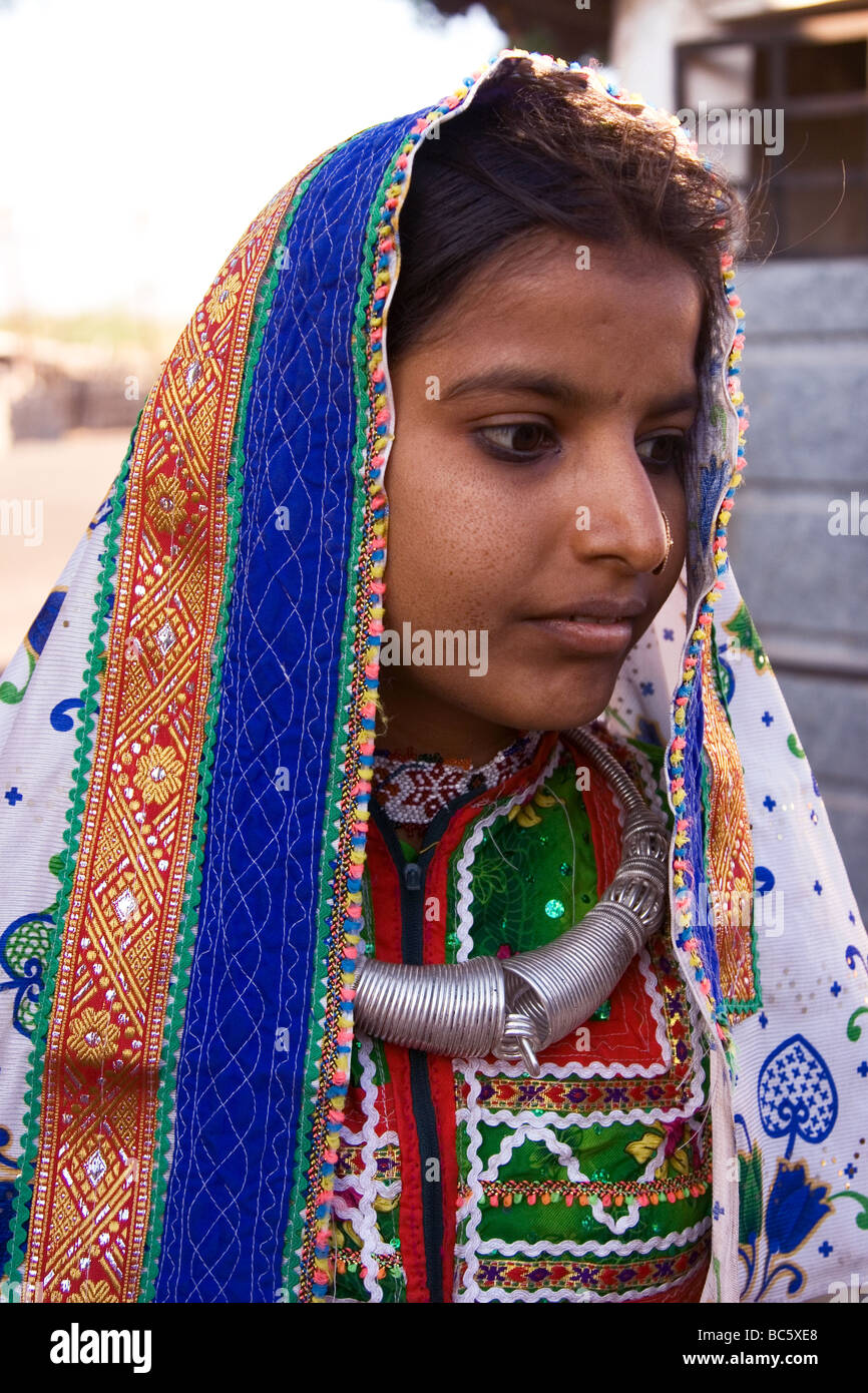 girl in traditional indian tribal dress this style of