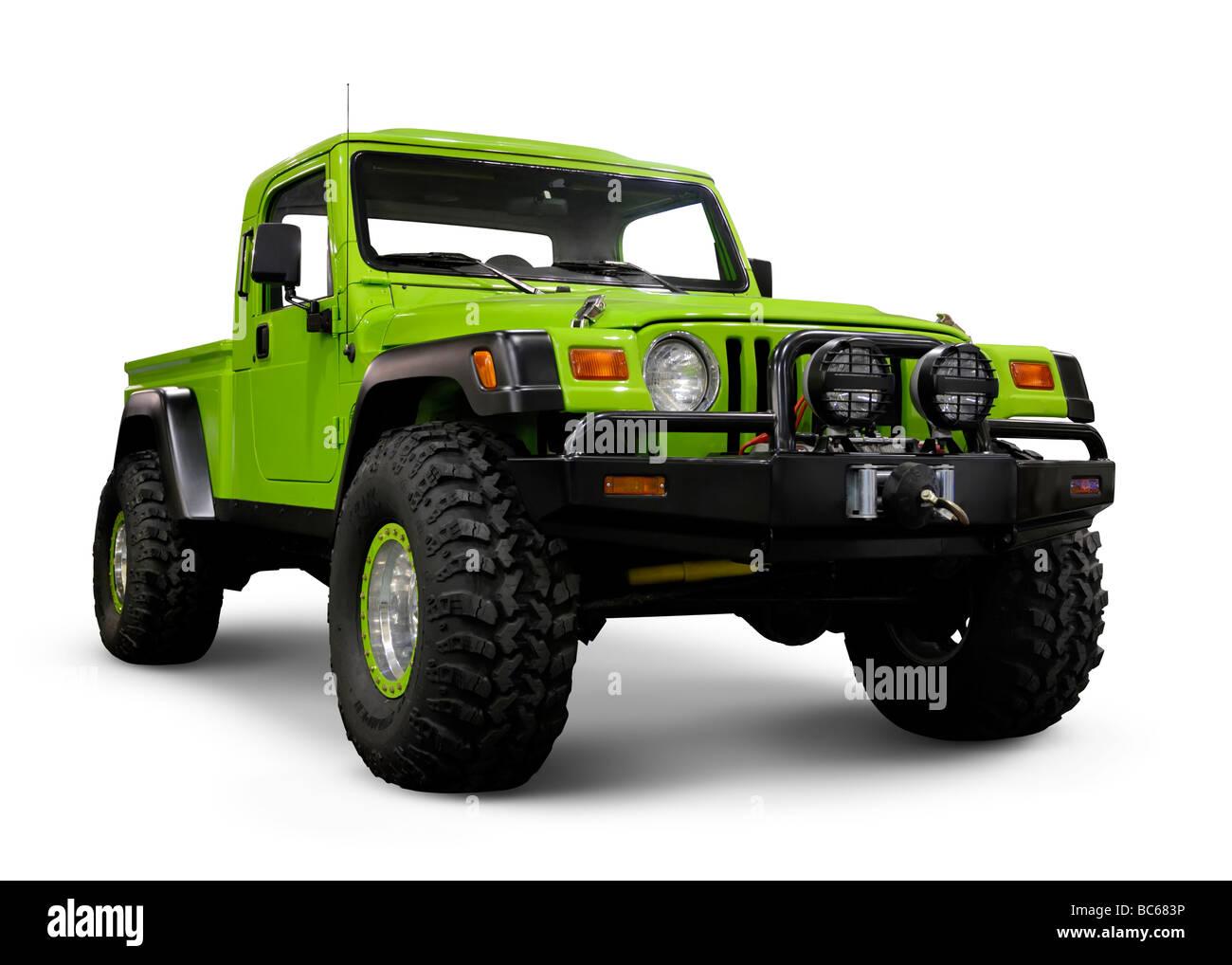 White Jeep Wrangler 2018 >> Custom Jeep Wrangler TJ with large wheels Stock Photo, Royalty Free Image: 24724330 - Alamy