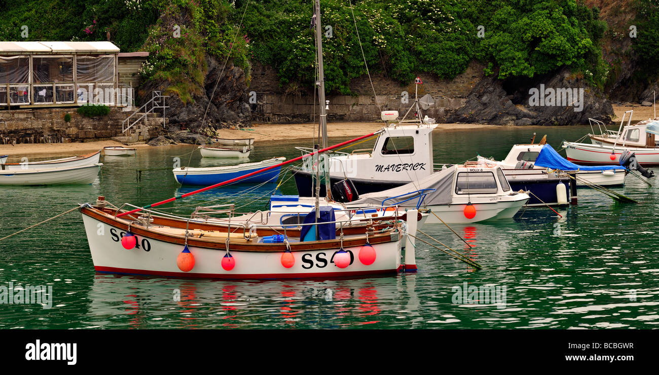 Boats in Newquay Harbour Stock Photo