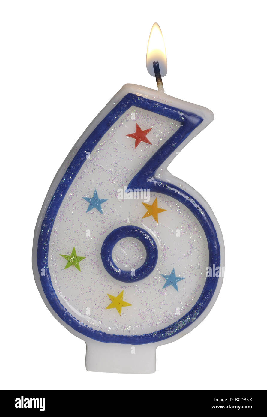 Number 6 Birthday Candle Stock Photo  Royalty Free Image