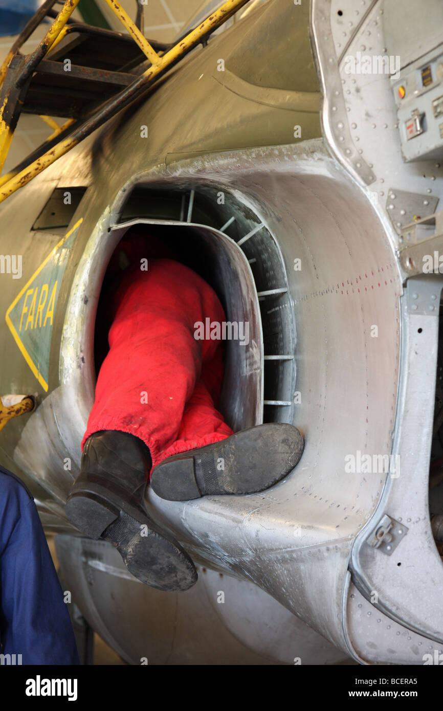 Engine in jet man suck