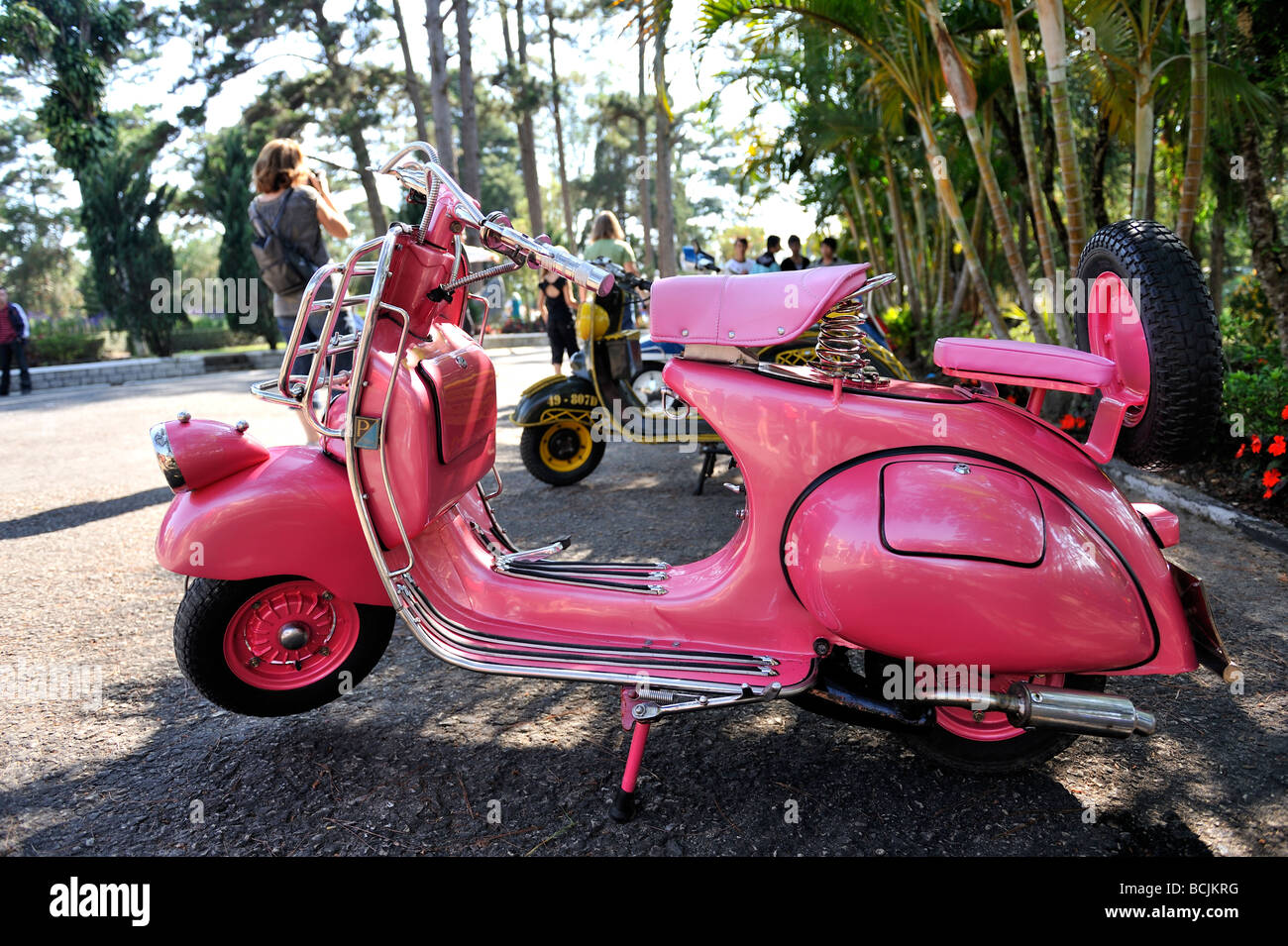 classic antique pink piaggio vespa scooter circa mid. Black Bedroom Furniture Sets. Home Design Ideas
