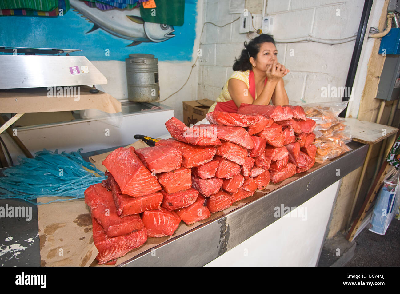 smoked marlin fish for sale outside juarez market in mazatlan mexico stock photo royalty free. Black Bedroom Furniture Sets. Home Design Ideas