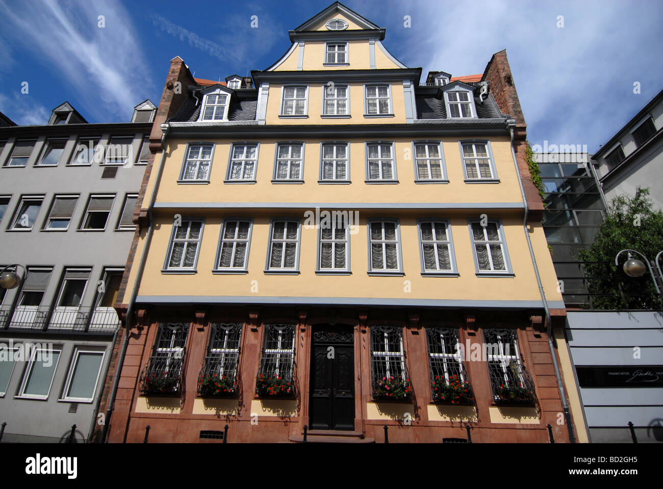 goethe haus frankfurt am main germany stock photo royalty free image 25257825 alamy. Black Bedroom Furniture Sets. Home Design Ideas
