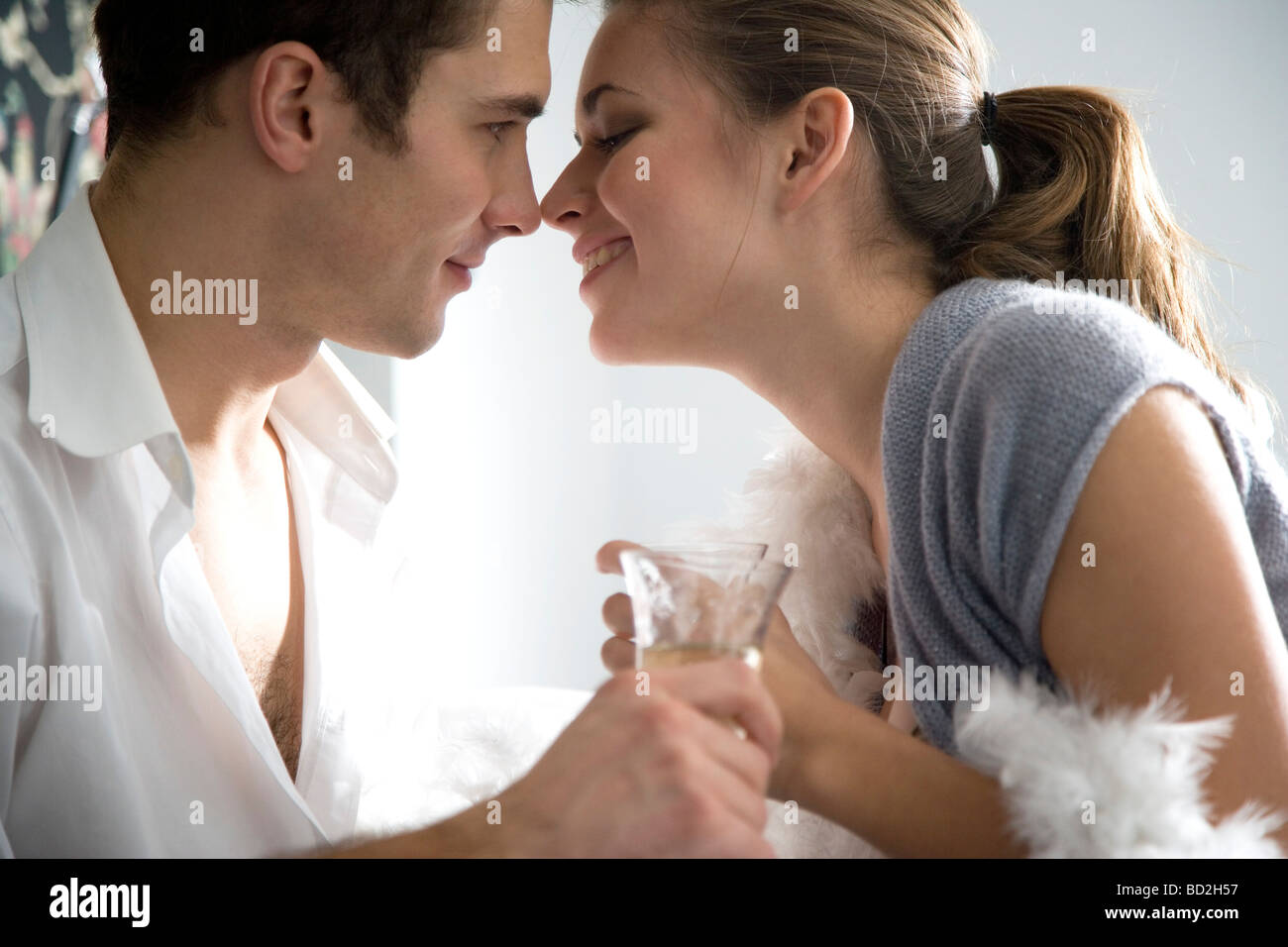 couple drinking champagne Stock Foto