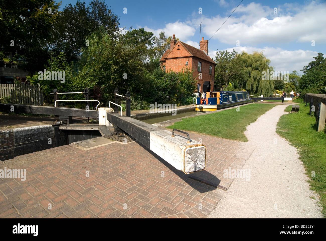 Cropredy top lock on the Oxford Canal Oxfordshire Doug Blane Stock Photo