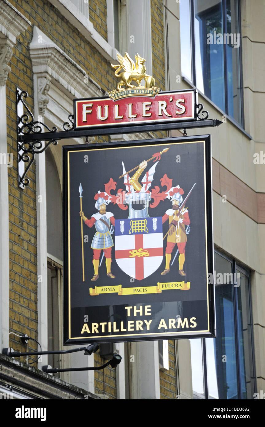 The Artillery Arms Fuller's Pub Sign Bunhill Row Islington ...