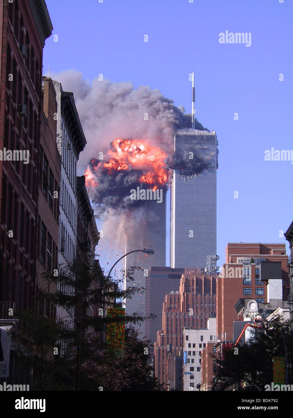 attack on the world trade center On a day of unspeakable horror for new york and the nation, terrorists crashed planes into the world trade center and the pentagon.