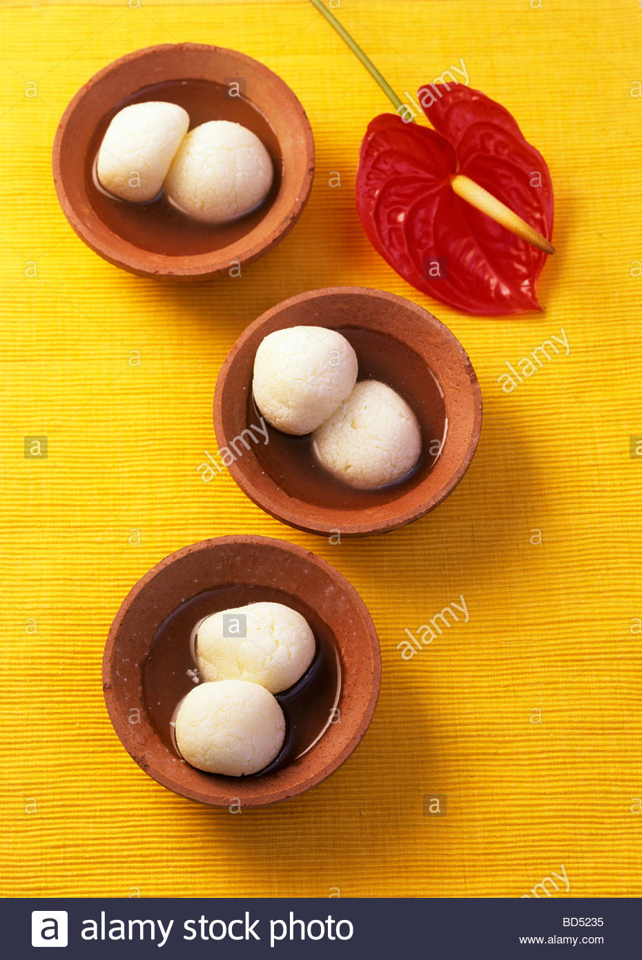 Rasgulla (Sweet cheese balls from India) Stock Foto