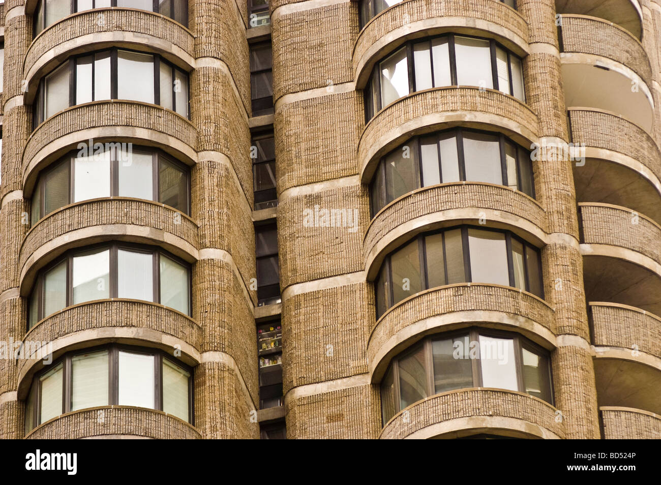 Round balcony in manhattan condo new york city usa stock for New york balcony