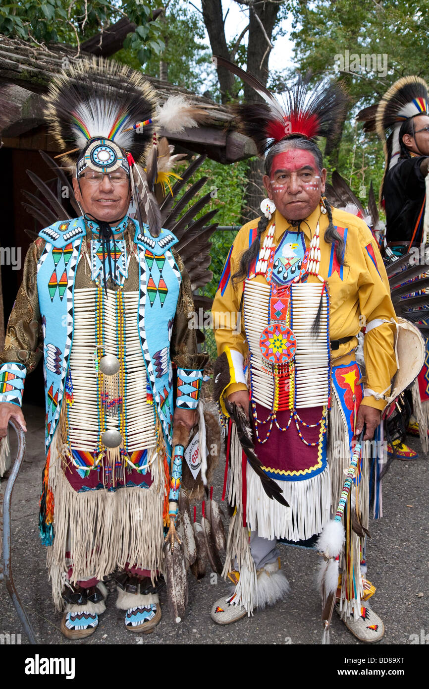 North American Plaims Native Indian In Traditional Dress