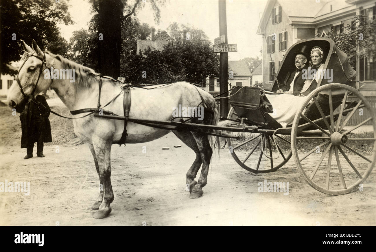 Aged Couple in Horse Drawn Carriage, Concord, NH Stock Photo, Royalty Free Image: 25488601 - Alamy