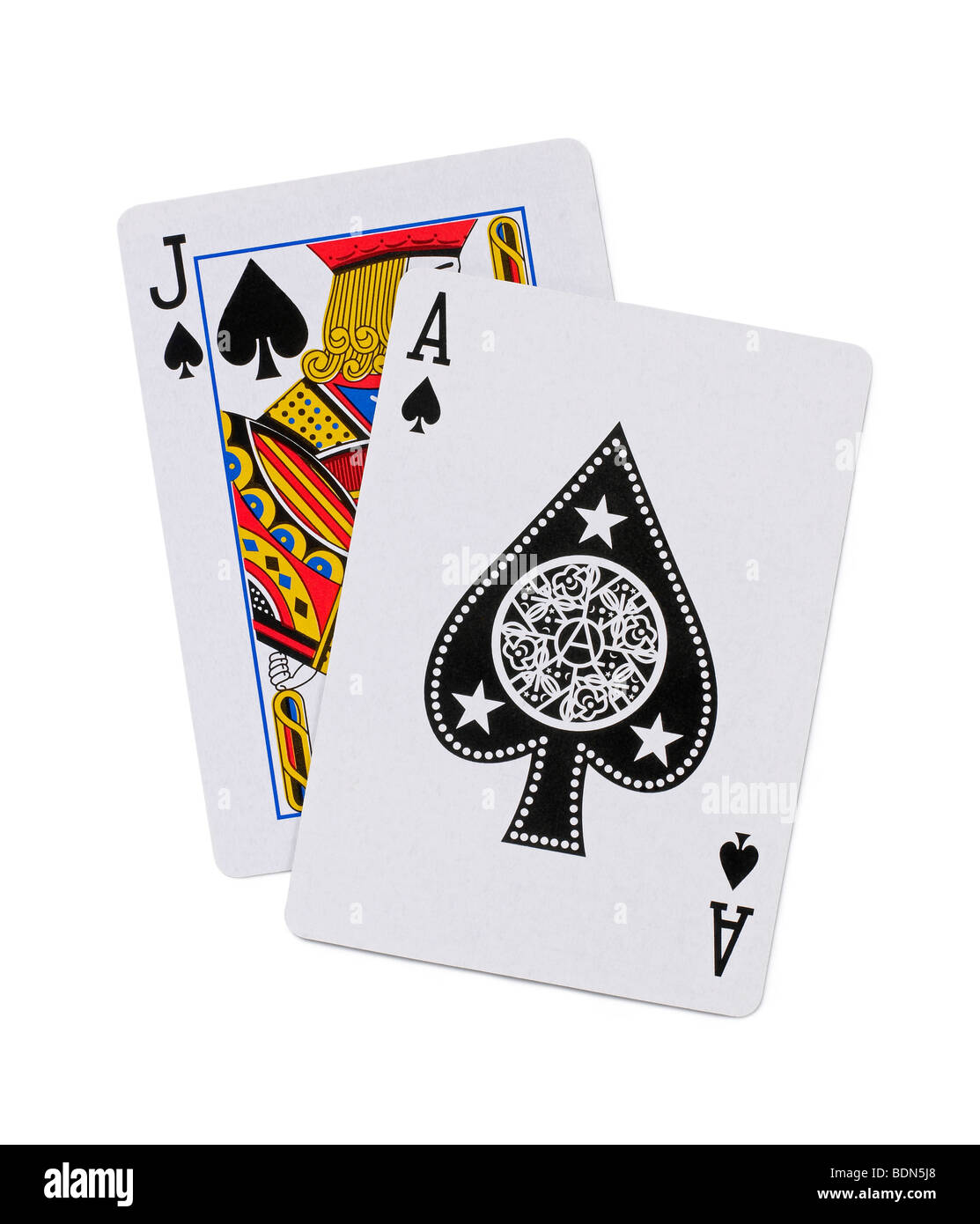 Playing Cards 21 Black Jack Stock Photo, Royalty Free