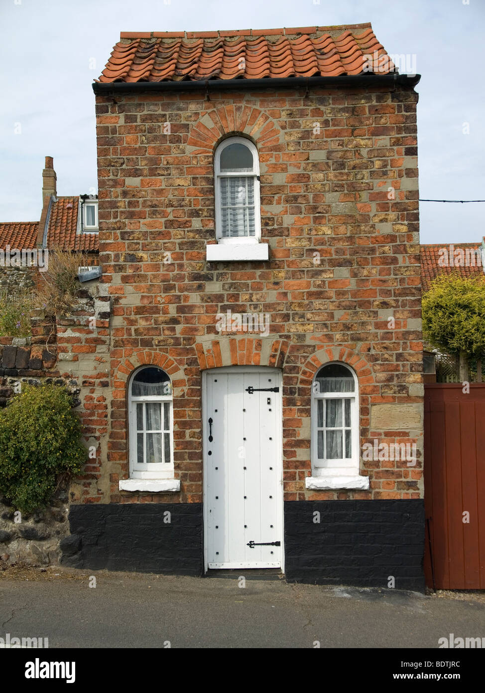 A tiny detached brick house in wells next the sea north norfolk stock photo royalty free image - Small belgian houses brick ...