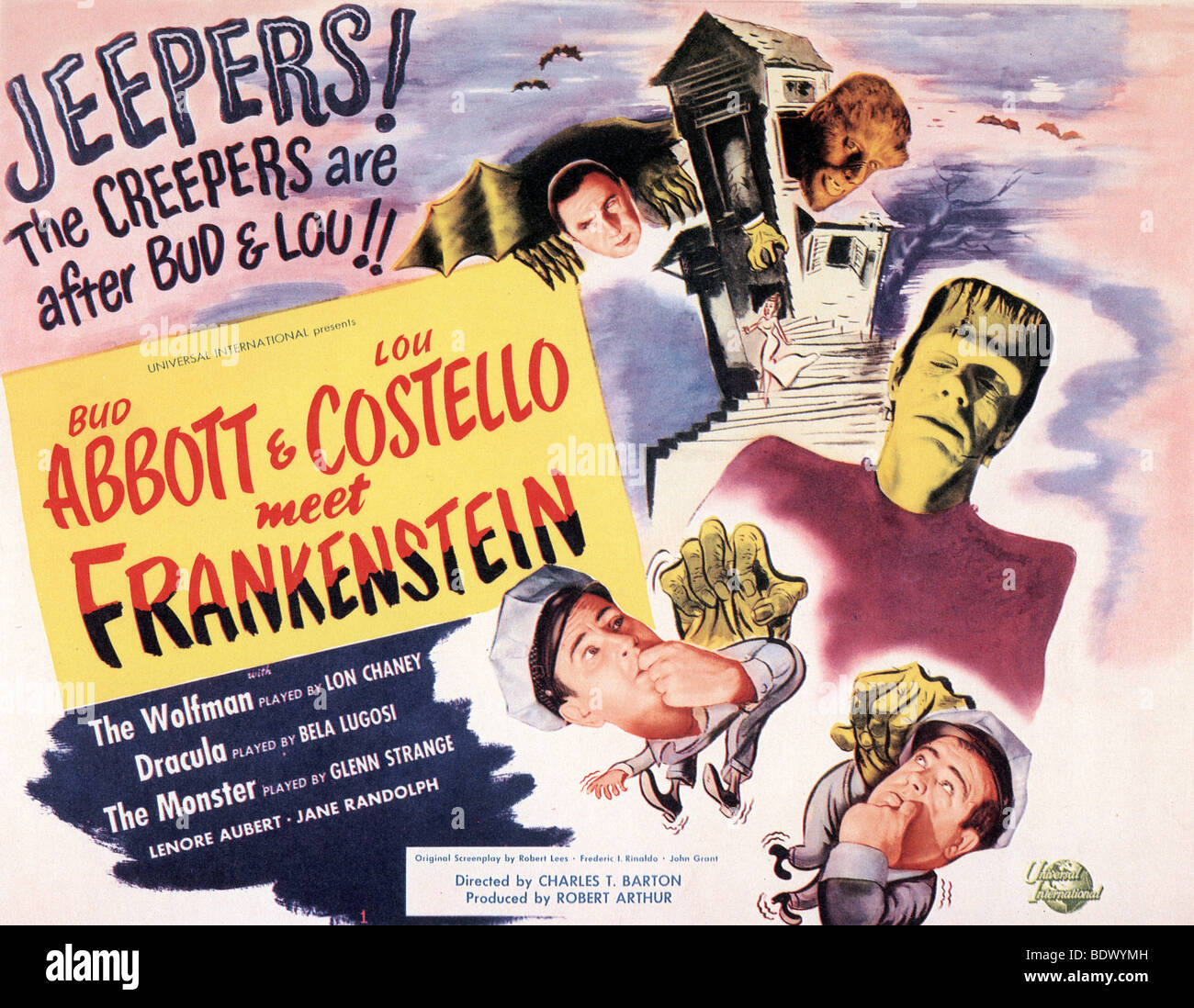 abbott and costello meet frankenstein poster for 1948 u