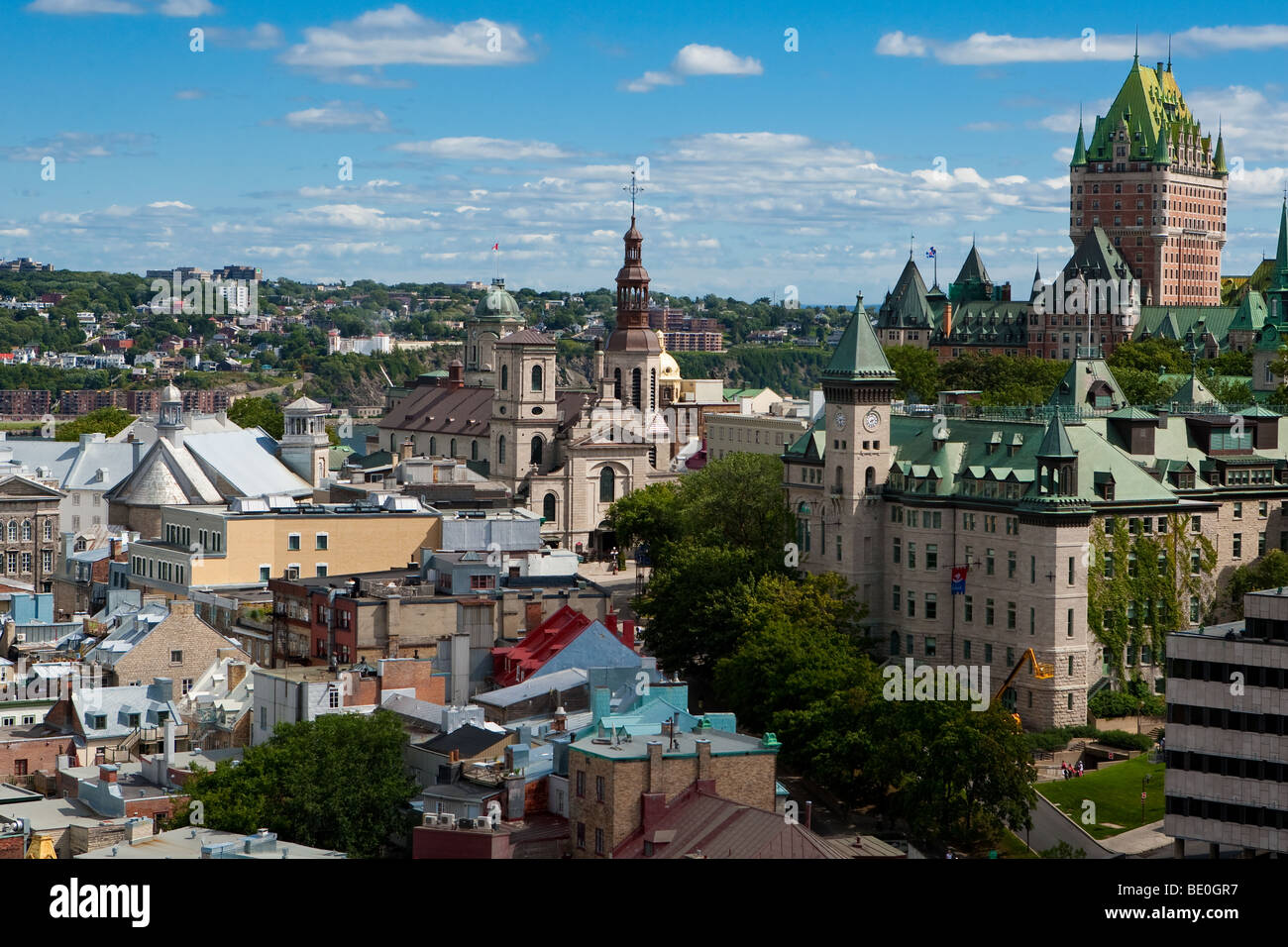 the old town district is pictured in quebec city hotel. Black Bedroom Furniture Sets. Home Design Ideas