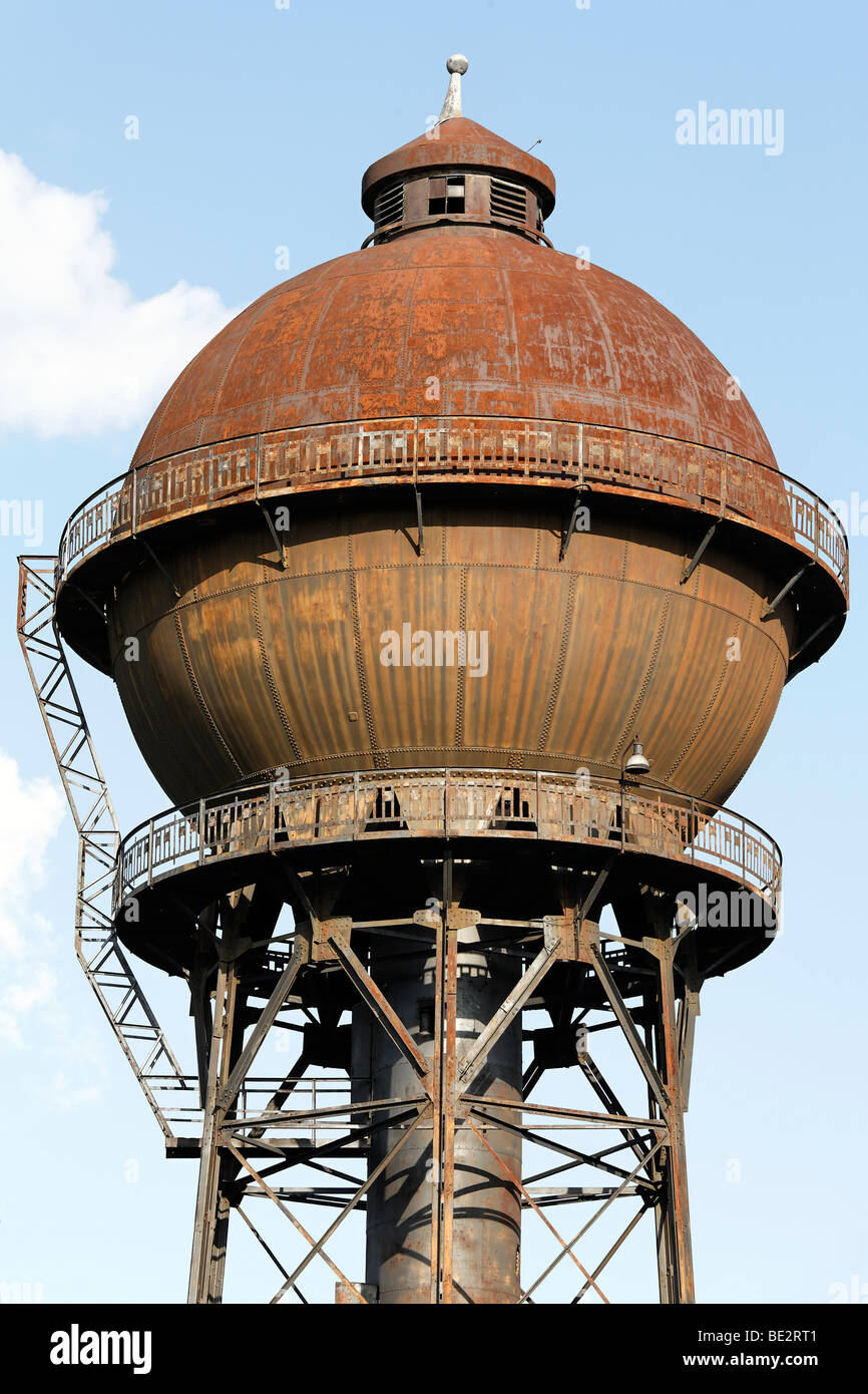 Water Tower Tank : Historic water tower south spherical tank on a