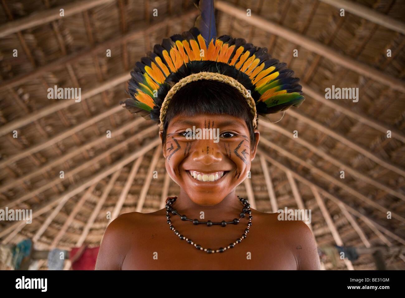 Children Of The Xingu Indian Go To School Built In The