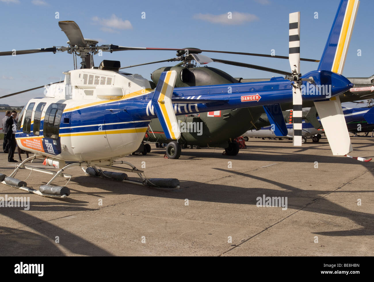 Trade Stands Duxford : Bell helicopters helicopter n hh at helitech trade