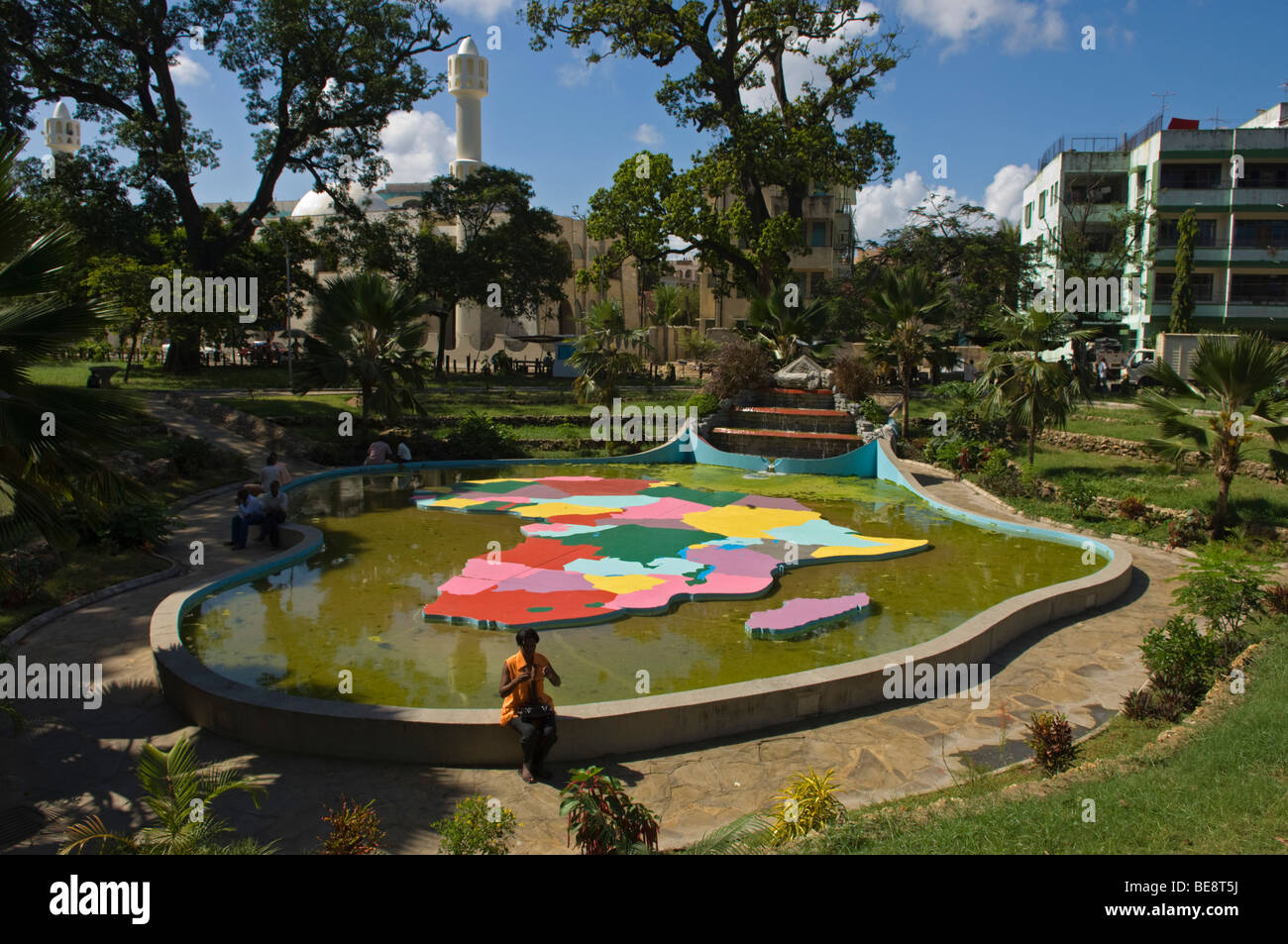 Africa-shaped Fountain, Uhuru Gardens, Mombasa, Kenya
