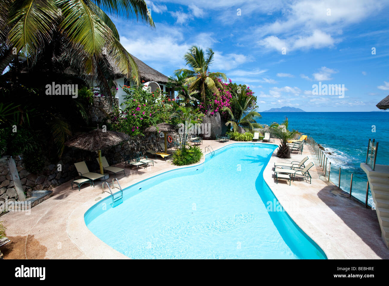 sunset beach resort glacis mah island seychelles indian ocean stock photo royalty free. Black Bedroom Furniture Sets. Home Design Ideas