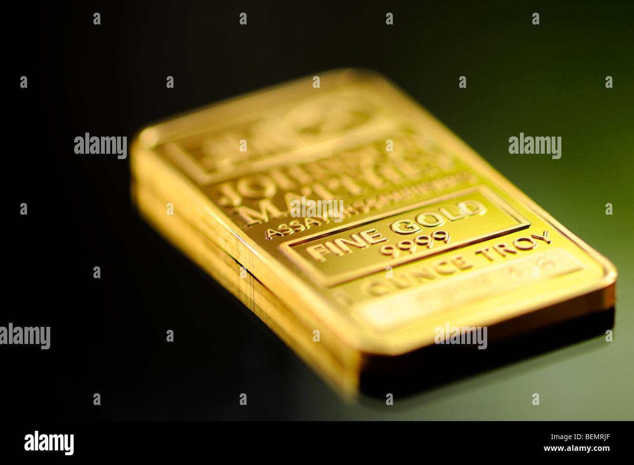 Gold Bar Ingot 1 Troy Ounce 999 Purity Stock Photo