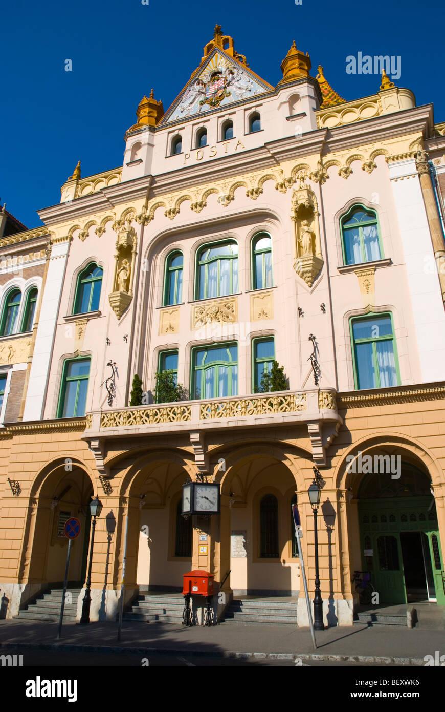 Postapalota The Main Post Office Building In Pecs Hungary