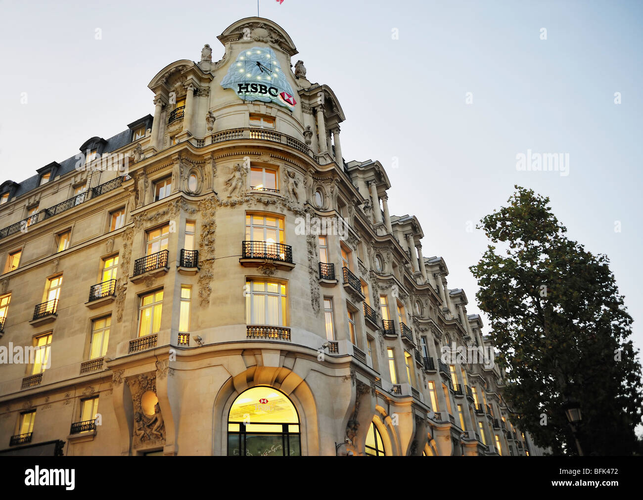 Paris France Commercial Architecture Hsbc Bank Corporate Stock Photo 26850630 Alamy