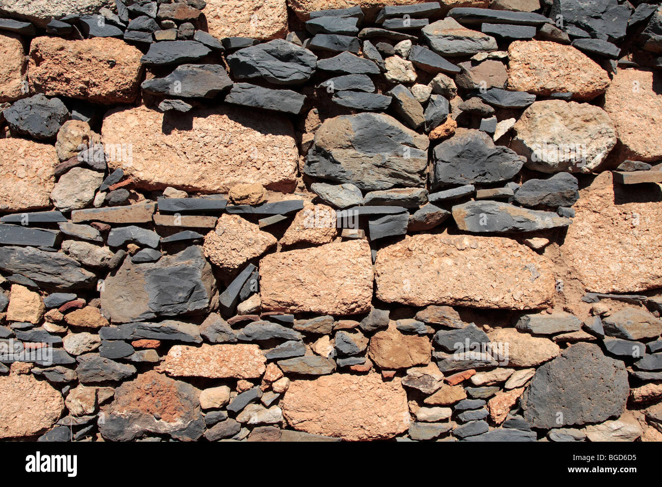 Various types of volcanic stone used in the building of an for Different types of stone for houses