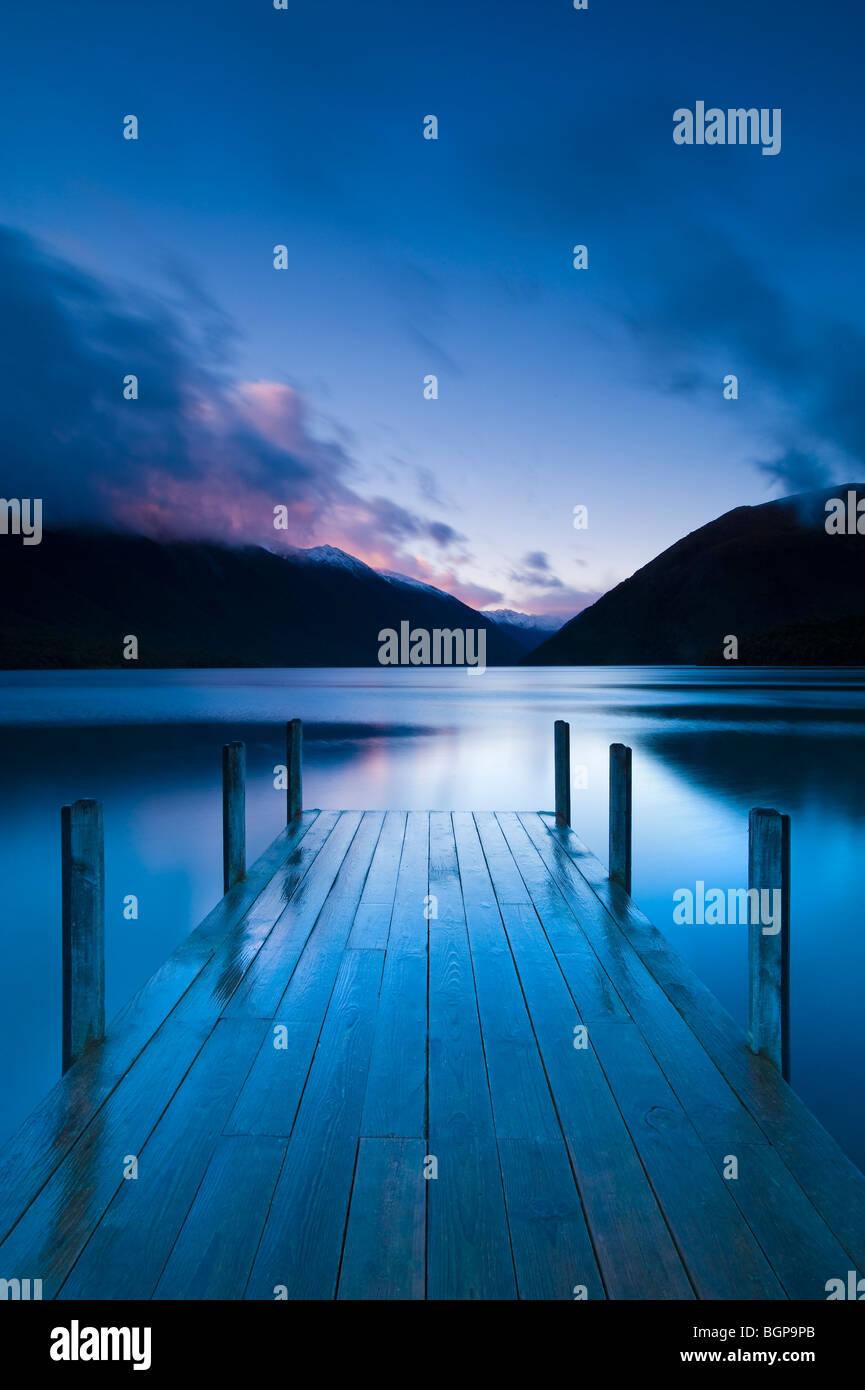 Lake Rotoiti, South Island, New Zealand Stock Foto
