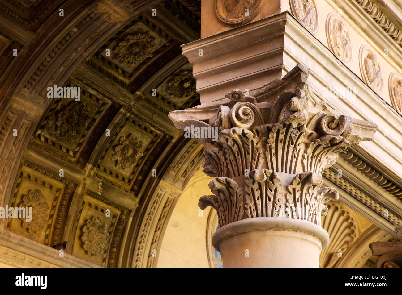 architectural detail in santa croce church in florence tuscany italy stock photo royalty free. Black Bedroom Furniture Sets. Home Design Ideas