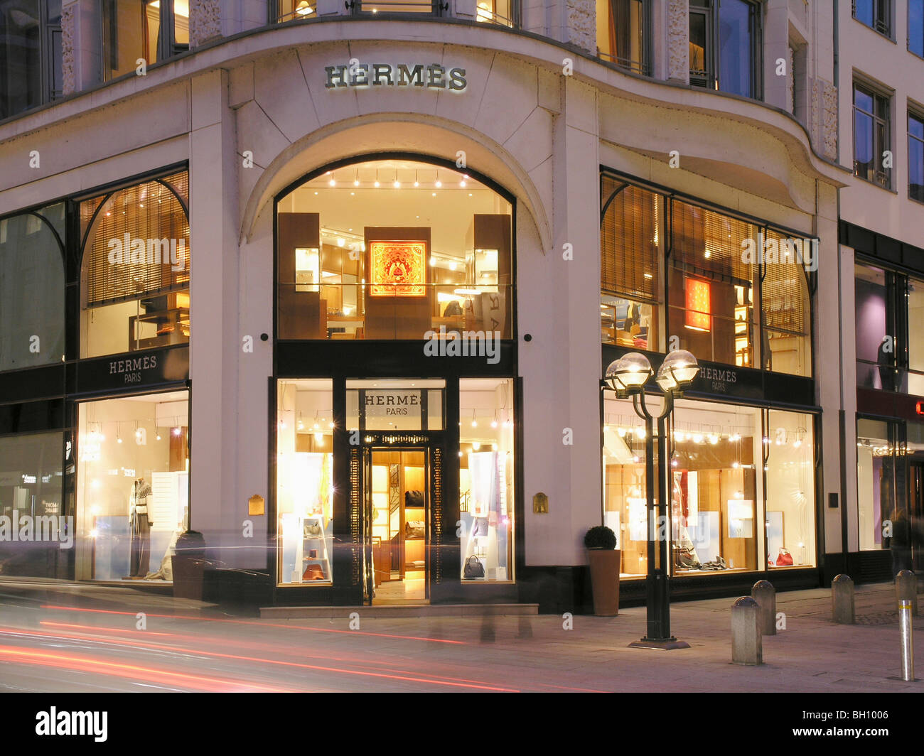 hermes store hanseatic city of hamburg germany stock. Black Bedroom Furniture Sets. Home Design Ideas