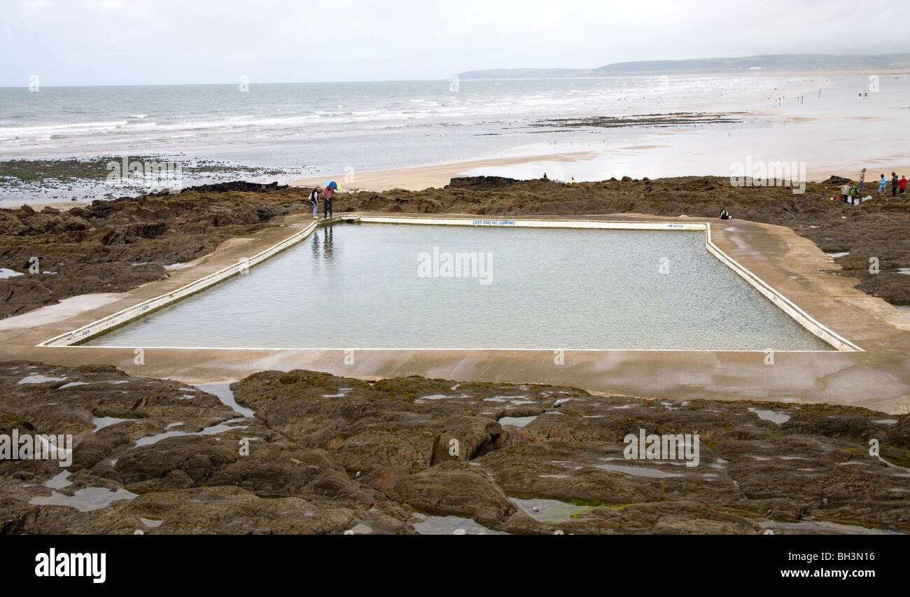 salt water swimming pool westward ho devon stock photo royalty free image 27741874 alamy