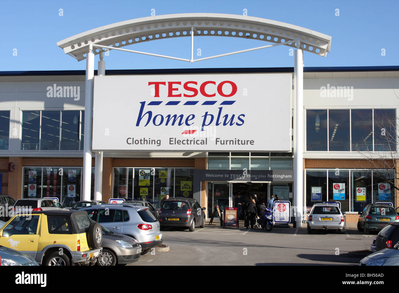 A Tesco Home Plus Store On A Retail Park In Nottingham England U K Stock Photo Royalty Free