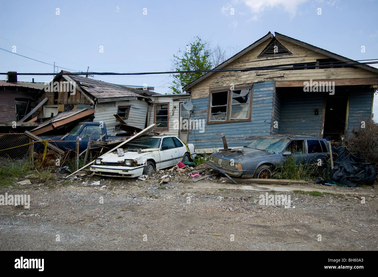 Cars And Homes Lie In Rubble 9 Months After Hurricane