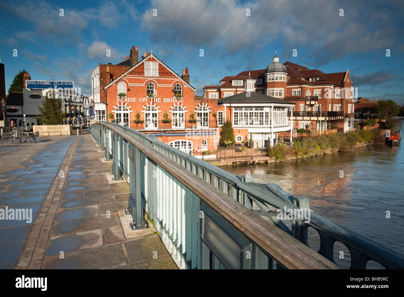 View From Eton Bridge Looking Towards Eton Town Centre And The River Stock Photo Royalty Free
