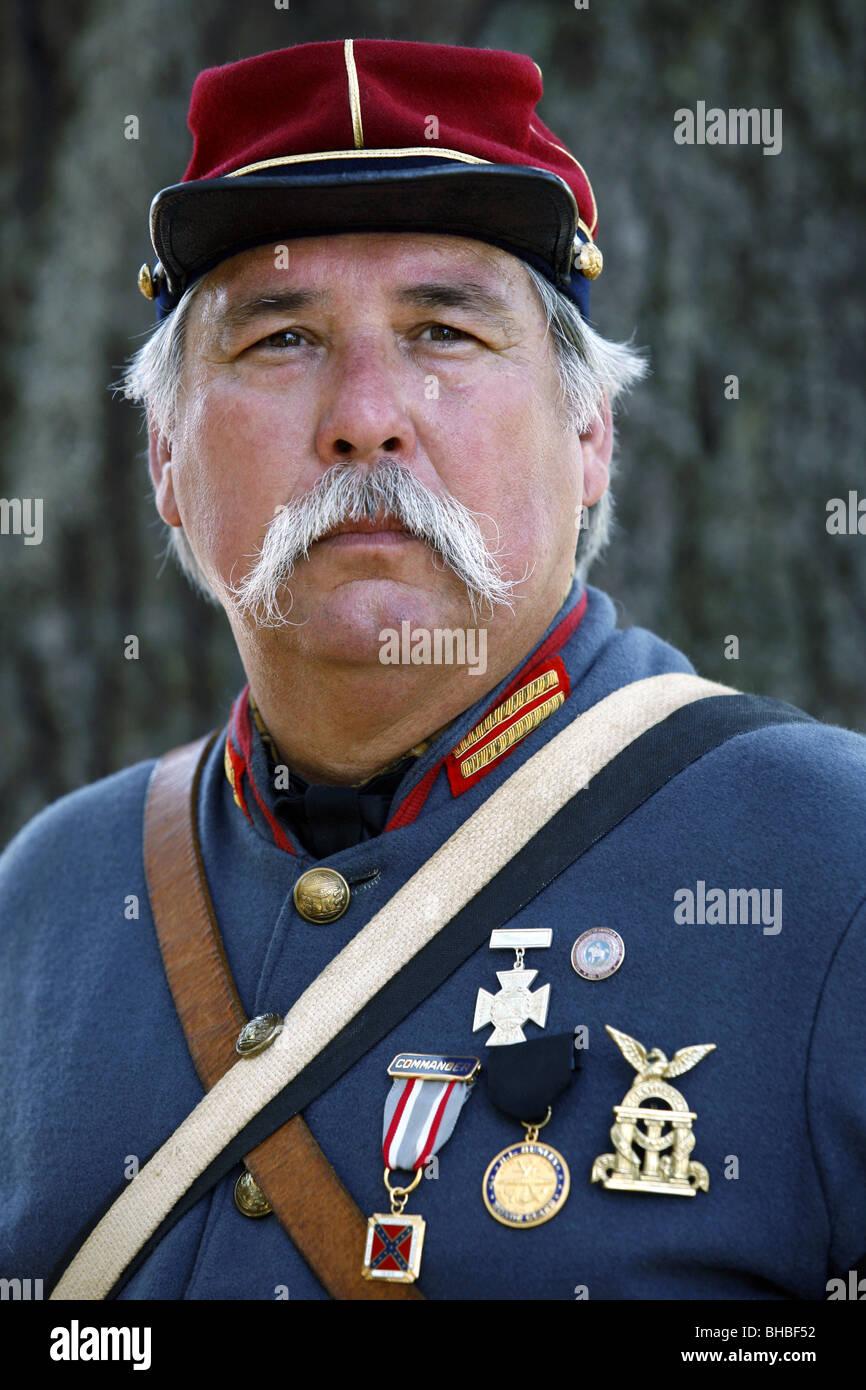 Confederate Officer American Civil War Reenactor