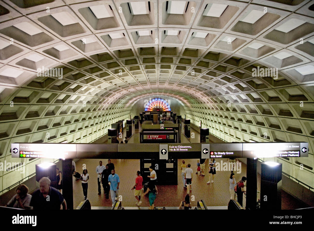 interior overhead view of metro train station in washington d c stock photo royalty free image. Black Bedroom Furniture Sets. Home Design Ideas
