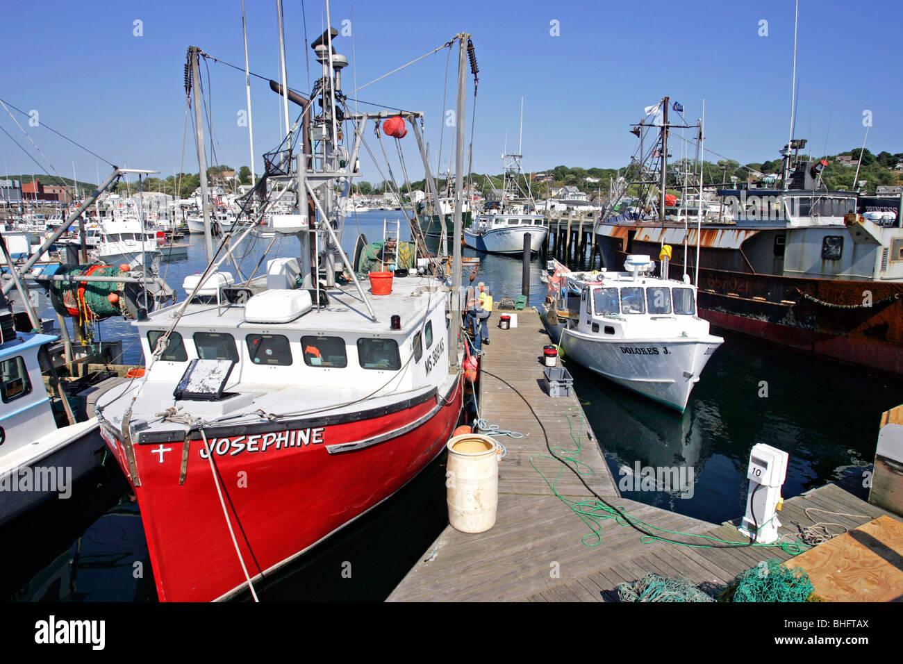 Gloucester ma fishing fleet stock photo royalty free for Gloucester ma fishing