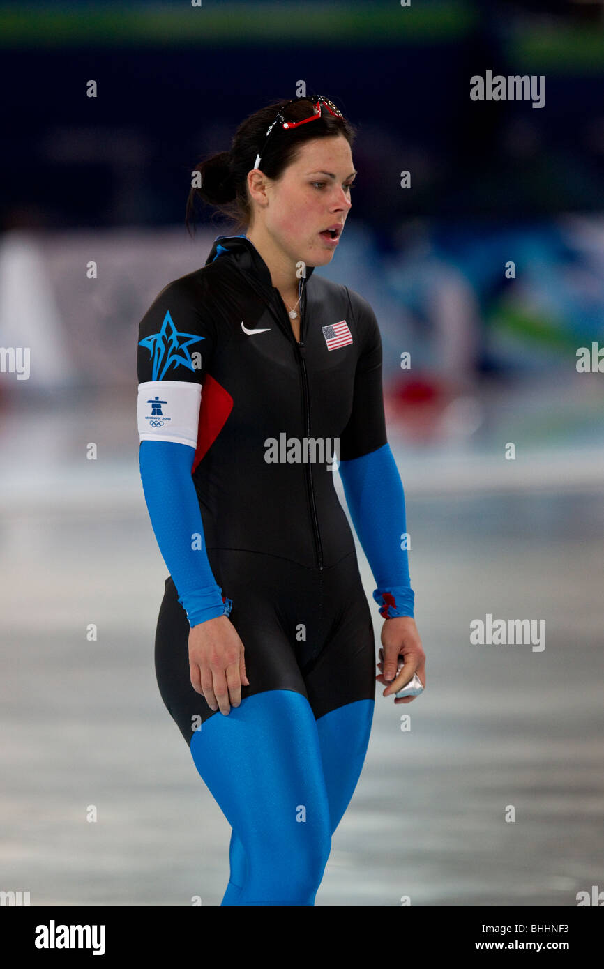 Elli Ochowicz (USA) competing in the Women's 500m Speed ...
