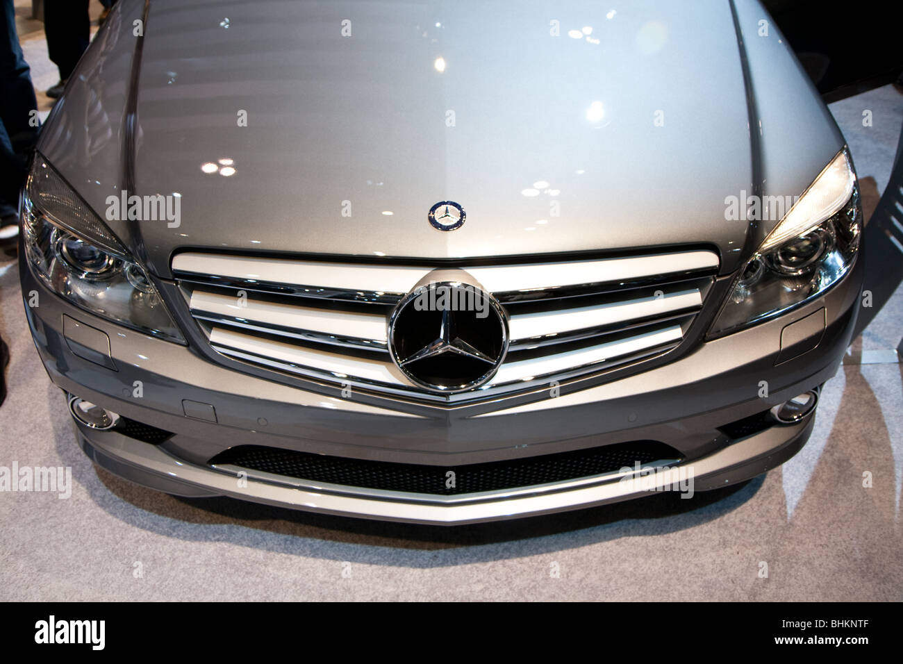 Mercedes benz c class front grill stock photo for Mercedes benz grill