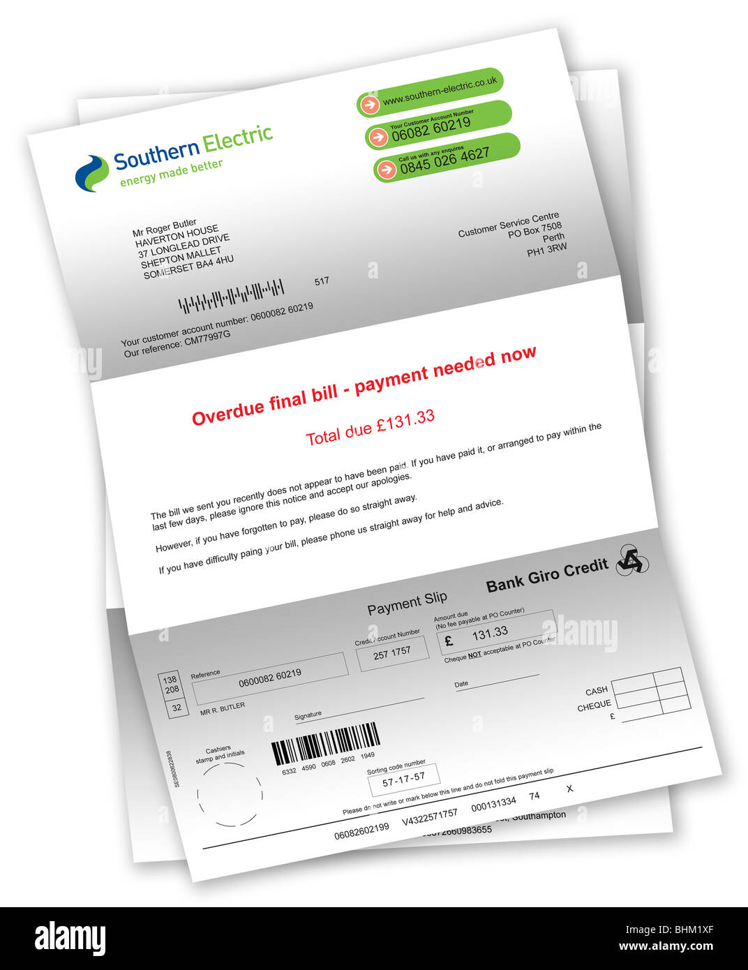 how to write a letter for bill payment