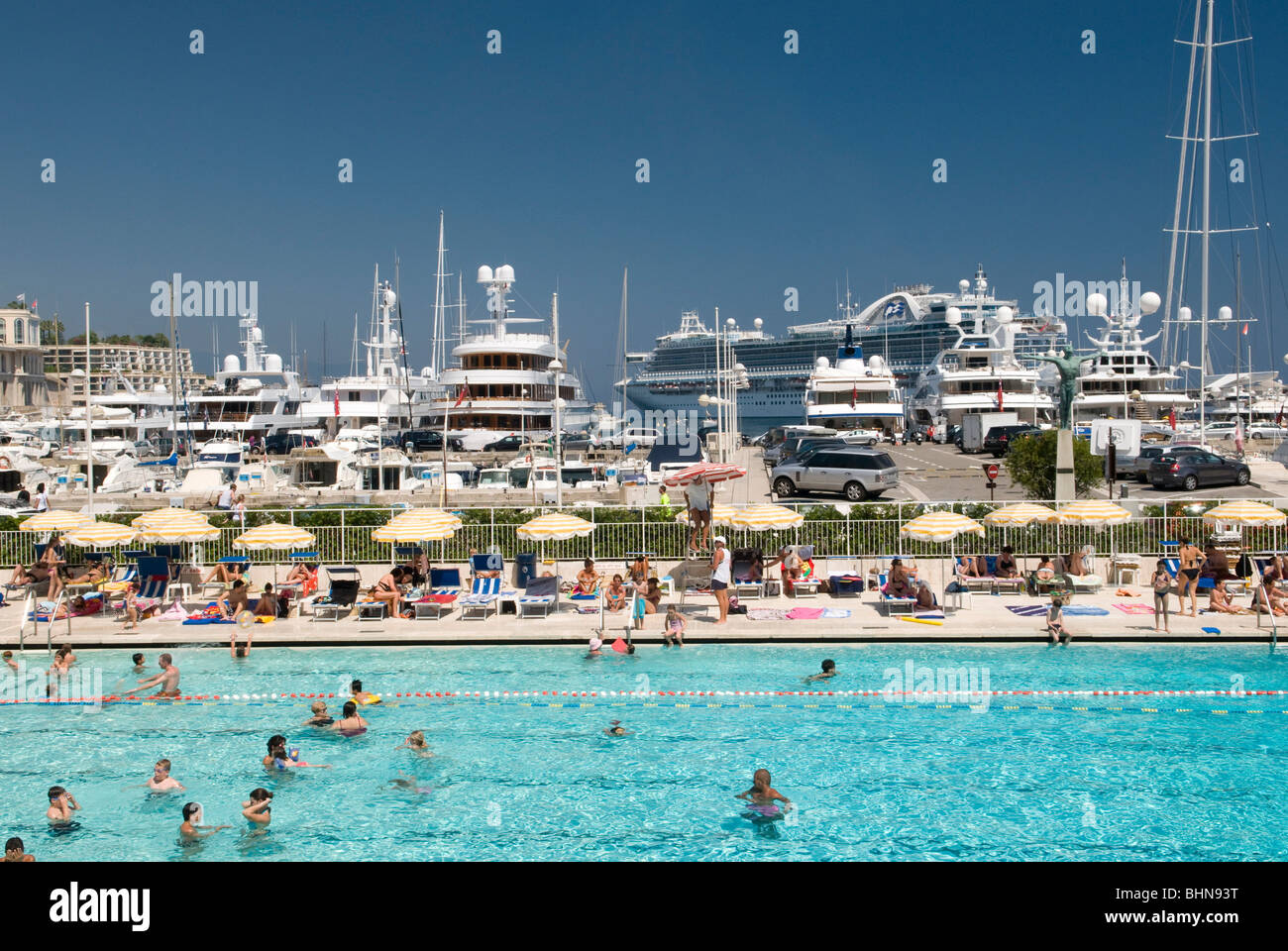 Geography Travel Monaco Cote D Azur Monte Carlo Harbour And Stock Photo Royalty Free