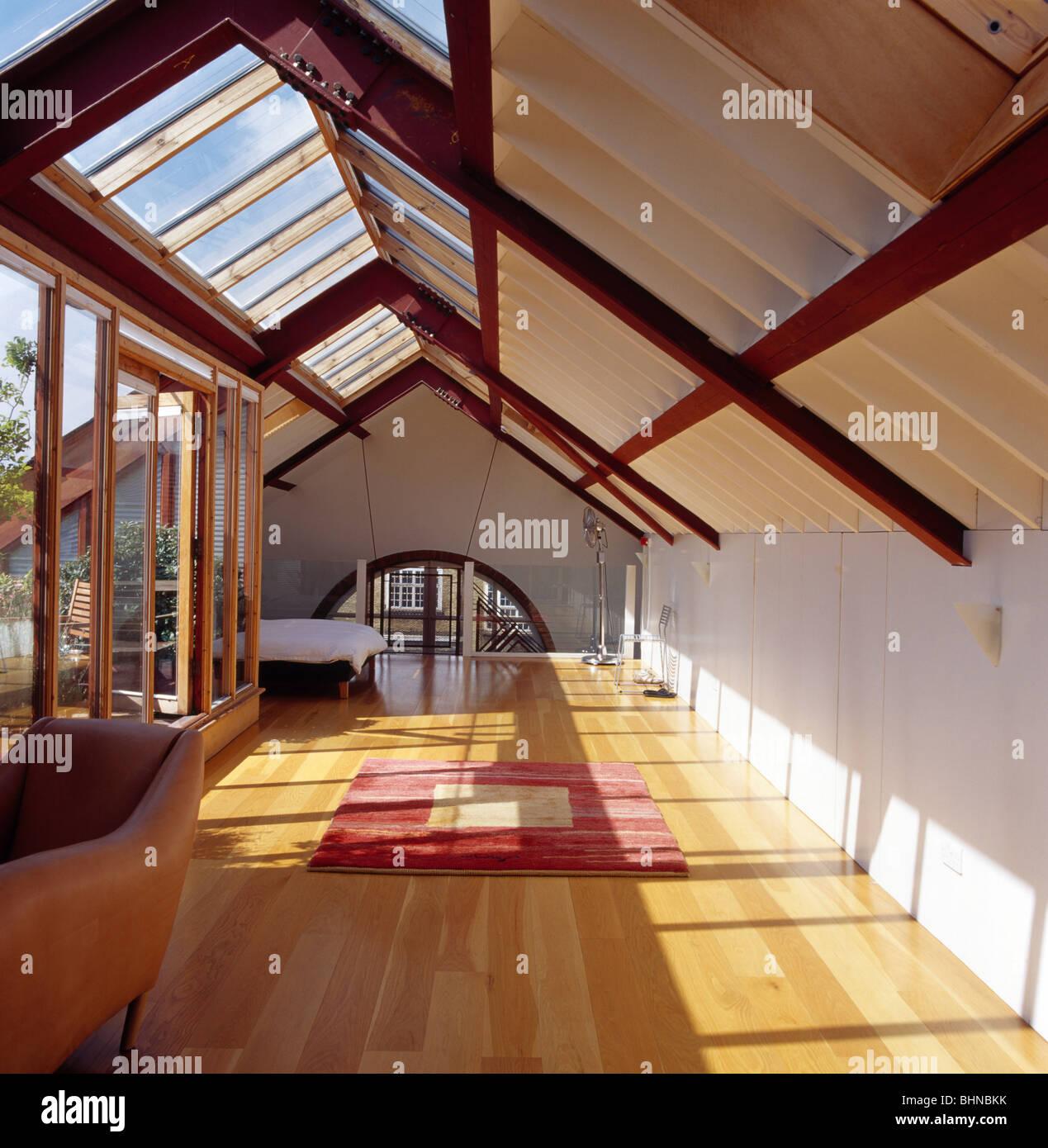 Glass ceiling bedroom