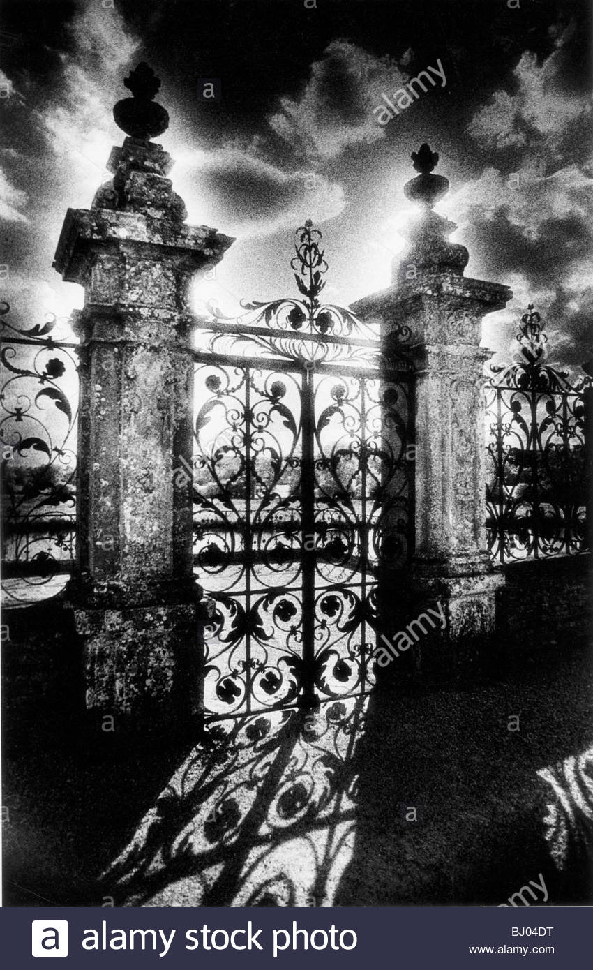 Gates, Carrouges Chateau, Normandy, France Stock Foto