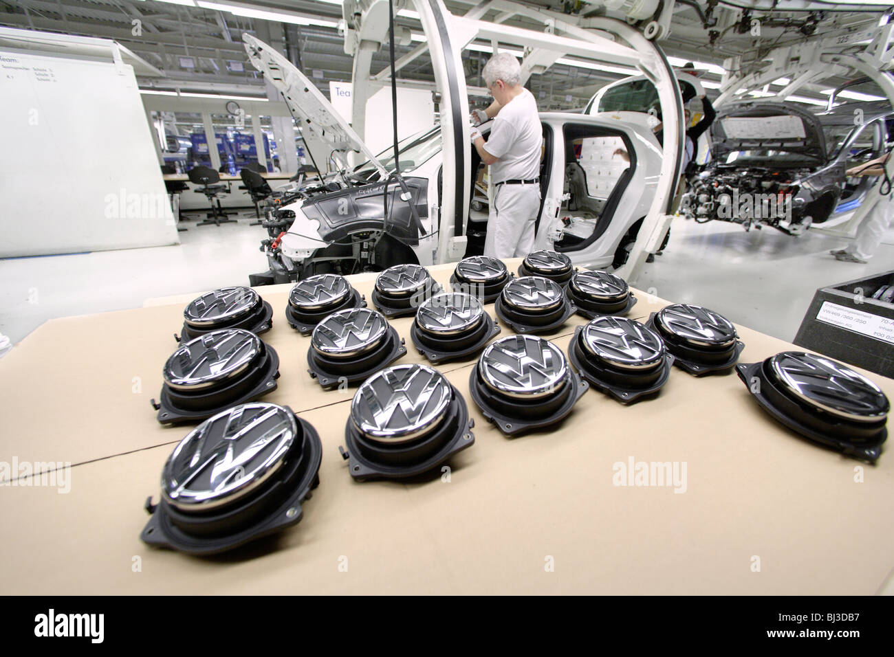 volkswagen ag production  passenger cars   works  stock photo royalty  image
