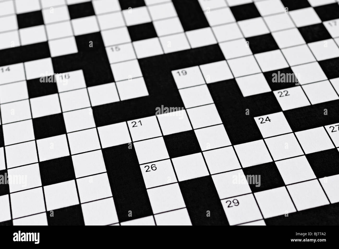 Crossword Stock Foto