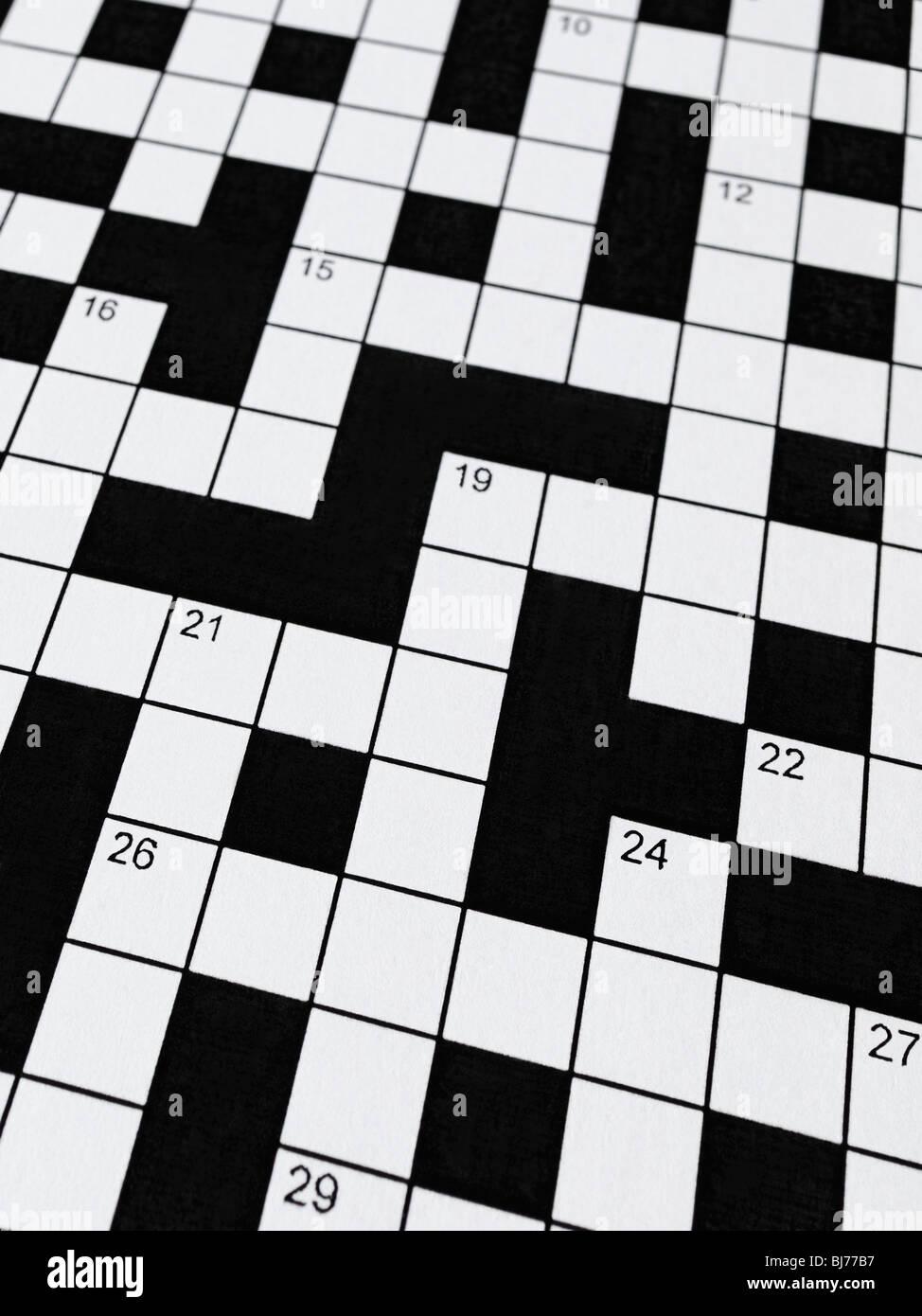 Crossword Stock Foto