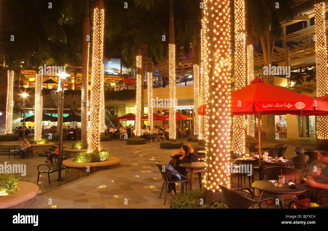 greenbelt shopping mall at night business district makati