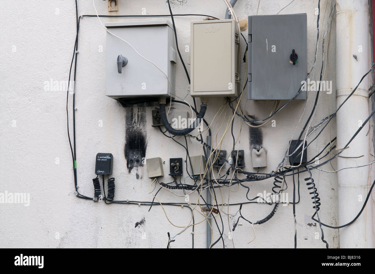 Bad Electrical Wiring Stock Photo  Royalty Free Image  28452178
